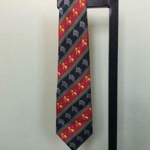 Fendi Lion Image Silk Tie